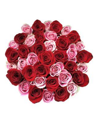 aranjament trandafiri rosii roz walrose signature