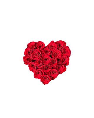 Cadou Valentine's Day Walrose cutie cu trandafiri ROSII LIVRARE FLORI GRATUITA BRASOV