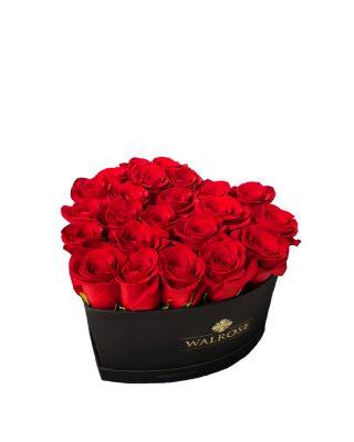 Cadou Valentine's Day Walrose cutie cu trandafiri idee de cadou cutie mare NEAGRA LIVRARE FLORI BRASV