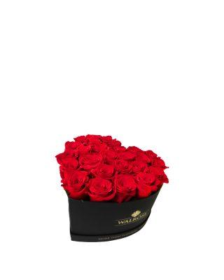 Cadou Valentine's Day Walrose cutie cu trandafiri rosii idee de cadou cutie mica NEAGRA